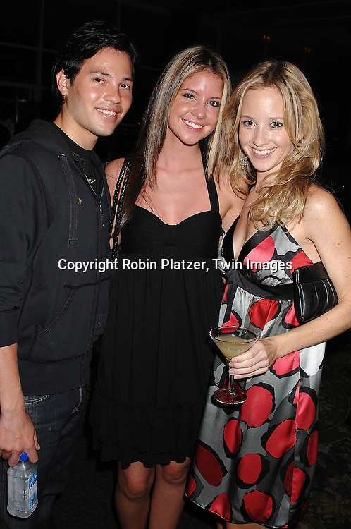 Jason Tam, Brittany Underwood and Justis Bolding..at The Feast with Famous Faces 2007 Gala benefitting..The League for the Hard of Hearing on October 22, 2007 at Pier Sixty at Chelsea Piers. ..Robin Platzer, Twin Images