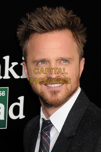 Aaron Paul<br /> &quot;Breaking Bad&quot; Final Episodes Los Angeles Premiere Screening held at Sony Pictures Studios, Culver City, California, USA, 24th July 2013.<br /> portrait headshot beard facial hair white shirt grey gray black suit tie<br /> CAP/ADM/BP<br /> &copy;Byron Purvis/AdMedia/Capital Pictures