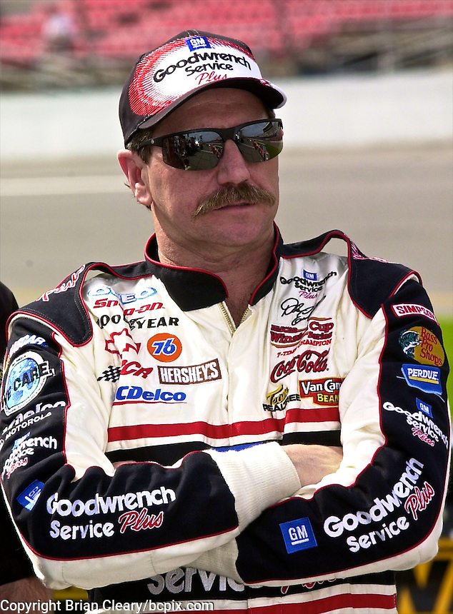 Dale Earnhardt is shown during qualifying for the Daytona 500, Daytona International Speedway, Daytona Beach, FL, February, 2001.  (Photo by Brian Cleary/www.bcpix.com)
