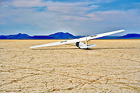 Glider plane landed on the Alvord Desert. Oregon