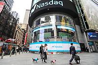 NEW YORK, NY, 03.04.2017 - ECONOMIA-NASDAQ - Vista da bolsa de valores Nasdaq em New York nesta segunda-feira, 03. (Foto: William Volcov/Brazil Photo Press)