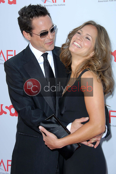 Robert Downey Jr. and Susan Downey<br />
