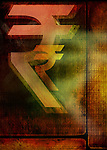 Close-up of Indian rupee symbols