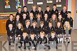 Enjoying their first day at school in Gaelscoil Aogain, Castleisland on Wednesday was first row l-r: Seán Flynn, Nathan Smyth, Caoimhín Ó Riada, Diarmuid MacDonagh. Second row: Noah Fitzgerald, Millie Ní h-Allmhúráin, Leah Bourke, Rachel Ní h-Argáin, Aisling Ní h-Icí, Caitlyn Clarke, Sarah Louise McGee, Holly Ní hOráin. Back row: Cillian O'Sullivan, Lucy Nic Cionnaith, Conor MacAitigín, Deirdre Ní Mhuineacháin, Erin Ní Chonchúir, Rachel de Barra, Gráinne O Shé, Cáit Ní Néill, Lucas Elezi. Back row: Issac O Brosnacháin, Seán dr Bluinsín, Killian O Duinneacha, Scott Allen, Evan Breathnach, Tomás Mac Sheoin and Pat O Brosnacáin.