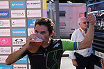 Giorgia Bronzini (ITA) Cylance Pro Cycling cools down with a well earned drink after winning Stage 2 of the Madrid Challenge by La Vuelta 2018, running 98.6km around the streets of Madrid, Spain. 16th September 2018.                   <br /> Picture: Unipublic/Vicent Bosch | Cyclefile<br /> <br /> <br /> All photos usage must carry mandatory copyright credit (&copy; Cyclefile | Unipublic/Vicent Bosch)