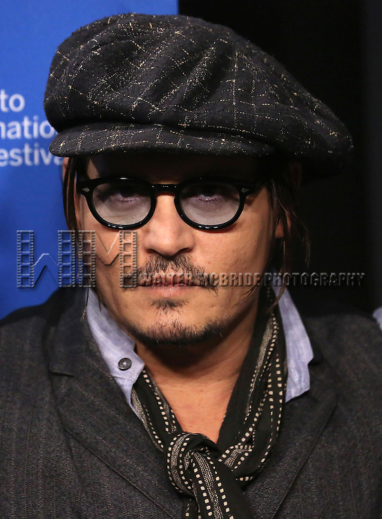 Johnny Depp attends the 'Black Mass' photo call during the 2015 Toronto International Film Festival at Roy Thomson Hall on September 14, 2015 in Toronto, Canada.