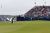 Andy Sullivan (ENG) putts onto the 18th green during Saturday's Round 3 of the Dubai Duty Free Irish Open 2019, held at Lahinch Golf Club, Lahinch, Ireland. 6th July 2019.<br /> Picture: Eoin Clarke | Golffile<br /> <br /> <br /> All photos usage must carry mandatory copyright credit (© Golffile | Eoin Clarke)