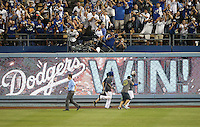 September 24, 2014 Los Angeles, CA: Los Angeles Dodgers celebrate after beating the San Francisco Giants 9-1 to win the National League west Title.