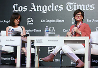 13 April 2019 - Los Angeles, California - Valerie Jarrett, Jackie Calmes. 2019 Los Angeles Times Festival Of Books held at University of Southern California. Photo Credit: Faye Sadou/AdMedia