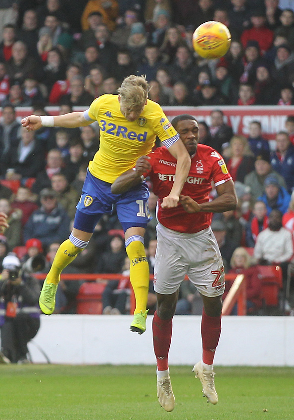 Leeds United's Ezgjan Alioski misses a goos chance<br /> <br /> Photographer Mick Walker/CameraSport<br /> <br /> The EFL Sky Bet Championship - Nottingham Forest v Leeds United - Tuesday 1st January 2019 - The City Ground - Nottingham<br /> <br /> World Copyright © 2019 CameraSport. All rights reserved. 43 Linden Ave. Countesthorpe. Leicester. England. LE8 5PG - Tel: +44 (0) 116 277 4147 - admin@camerasport.com - www.camerasport.com