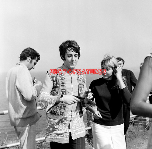 The Beatles 1967 Paul McCartney at  Magical Mystery Tour ..© Chris Walter..