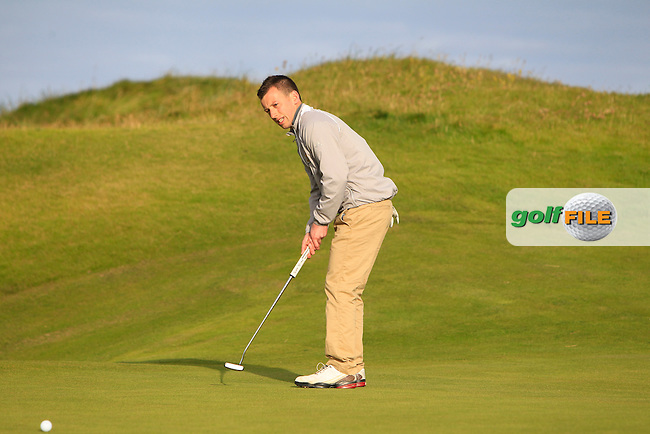 Declan King (Tramore) on the 1st green during Round 2 of the South of Ireland Amateur Open Championship at LaHinch Golf Club on Thursday 23rd July 2015.<br /> Picture:  Golffile | Thos Caffrey