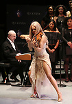 "Henry Aaronson and Mairead Nesbitt performing during the Performance Presentation of ""Rocktopia"" at SIR Studios on January 16, 2018 in New York City."