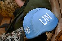 MALI, Gao, Minusma UN peace keeping mission, Camp Castor, german army Bundeswehr, blue helmet of UN / Blauhelm der UNO