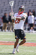 College Park, MD - April 1, 2017: Maryland Terrapins Isaiah Davis-Allen (26) makes a pass during game between Michigan and Maryland at  Capital One Field at Maryland Stadium in College Park, MD.  (Photo by Elliott Brown/Media Images International)