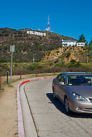 Hollywood Sign, Los Angeles CA, Lake Hollywood Park, Canyon Lake Drive, universal metaphor for ambition, success, glamour