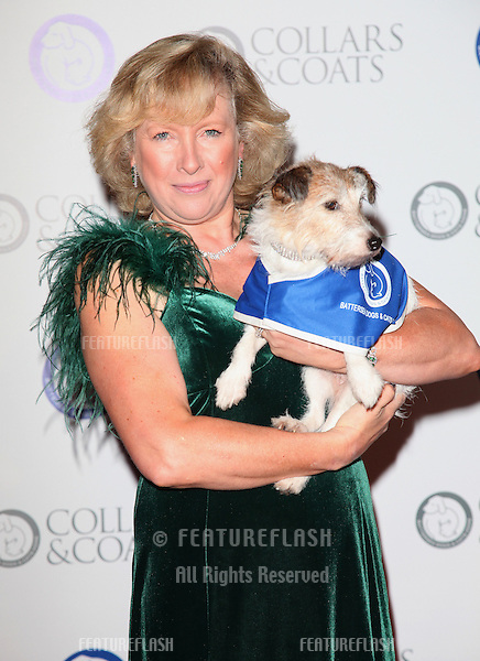 Battersea Dogs Home CEO Claire Horton arriving for the Collars And Coats Ball, at Battersea Evolution, London. 08/11/2012 Picture by: Alexandra Glen / Featureflash