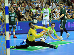 09.06.2019, Max Schmeling Halle, Berlin, GER, DHB,  1.HBL,  FUECHSE BERLIN VS. HSG Wetzlar,<br /> DHB regulations prohibit any use of photographs as image sequences and/or quasi-video<br /> im Bild Silvio Heinevetter (Fuechse Berlin #12), Lars Weissgerber (HSG Wetzlar #19) <br /> <br />      <br /> Foto © nordphoto / Engler
