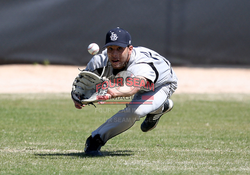 March 15, 2010:  Outfielder Julian Castro (21) of the Long Island University Blackbirds vs. UMBC at Lake Myrtle Park in Auburndale, FL.  Photo By Mike Janes/Four Seam Images