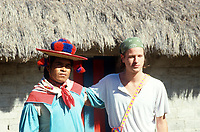 Cucamen and I, foto by Ivan Alechine. Wixarika (Huichol) community in the Sierra Madre Occidental, Mexico
