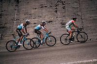 breakaway group with Mickaël Chérel (FRA/AG2R-La Mondiale), Nico Denz (DEU/AG2R-La Mondiale) & Giulio Ciccone (ITA/Bardiani-CSF) up the Passo di Sant'Antonio<br /> <br /> stage 15: Tolmezzo – Sappada (176 km)<br /> 101th Giro d'Italia 2018