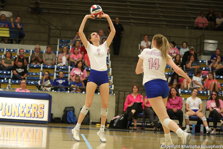 Boswell sweeps Saginaw in 7-5A high school volleyball on Friday, October 4, 2019. (Photo by Khampha Bouaphanh)