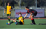 Action from the 2016 Founders Cup boys hockey match between Waimea College and Gisborne BHS at Clareville Twin Turfs, Carterton, New Zealand on Wednesday, 31 August 2016. Photo: Dave Lintott / lintottphoto.co.nz