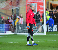 Lincoln City's Sam Slocombe during the pre-match warm-up<br /> <br /> Photographer Andrew Vaughan/CameraSport<br /> <br /> The EFL Sky Bet League Two - Lincoln City v Port Vale - Tuesday 1st January 2019 - Sincil Bank - Lincoln<br /> <br /> World Copyright &copy; 2019 CameraSport. All rights reserved. 43 Linden Ave. Countesthorpe. Leicester. England. LE8 5PG - Tel: +44 (0) 116 277 4147 - admin@camerasport.com - www.camerasport.com
