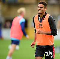 Lincoln City's Max Melbourne during the pre-match warm-up<br /> <br /> Photographer Andrew Vaughan/CameraSport<br /> <br /> The EFL Sky Bet League One - Wycombe Wanderers v Lincoln City - Saturday 7th September 2019 - Adams Park - Wycombe<br /> <br /> World Copyright © 2019 CameraSport. All rights reserved. 43 Linden Ave. Countesthorpe. Leicester. England. LE8 5PG - Tel: +44 (0) 116 277 4147 - admin@camerasport.com - www.camerasport.com
