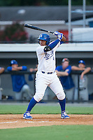 Meibrys Viloria (4) of the Burlington Royals at bat against the Bluefield Blue Jays at Burlington Athletic Park on June 29, 2015 in Burlington, North Carolina.  The Royals defeated the Blue Jays 4-1. (Brian Westerholt/Four Seam Images)