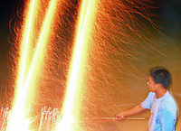 Street Photography, Manila, Philippines Fireworks,