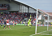 08/05/2016 Sky Bet League 1 Fleetwood Town v <br /> Crewe Alexandra<br /> Bobby Grant's scores Fleetwood Town's opening goal