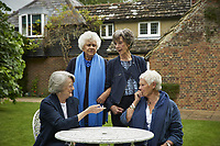Tea with the Dames (2018) <br /> Nothing Like a Dame (original title)<br /> Judi Dench, Maggie Smith, Eileen Atkins &amp; Joan Plowright.<br /> *Filmstill - Editorial Use Only*<br /> CAP/RFS<br /> Image supplied by Capital Pictures