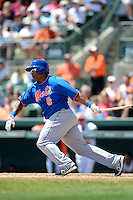 New York Mets outfielder Marlon Byrd #6 during a Spring Training game against the Baltimore Orioles at Ed Smith Stadium on March 30, 2013 in Sarasota, Florida.  (Mike Janes/Four Seam Images)