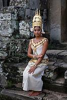 Apsara Dancer at Angkor Temple in Cambodia