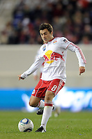Sinisa Ubiparipovic (8) of the New York Red Bulls during the second half of a Major League Soccer match between the New York Red Bulls and the Chicago Fire at Red Bull Arena in Harrison, NJ, on March 27, 2010. The Red Bulls defeated the Fire 1-0.