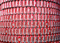 Coca Cola cans in different languages are seen in Salvador, Brazil, one of the 12 host cities of the 2014 FIFA World Cup