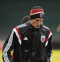 Washington, D.C.- March 29, 2014. Bobby Boswell (32) of D.C. United. The Chicago Fire tied D.C. United 2-2 during a Major League Soccer Match for the 2014 season at RFK Stadium.