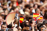 Spainsh flag during a military parade marking the Armed Forces Day on June 2, 2012 in Valladolid.(ALTERPHOTOS/Acero)