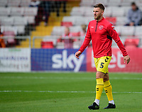 Fleetwood Town's Ashley Eastham during the pre-match warm-up<br /> <br /> Photographer Andrew Vaughan/CameraSport<br /> <br /> The EFL Sky Bet League One - Lincoln City v Fleetwood Town - Saturday 31st August 2019 - Sincil Bank - Lincoln<br /> <br /> World Copyright © 2019 CameraSport. All rights reserved. 43 Linden Ave. Countesthorpe. Leicester. England. LE8 5PG - Tel: +44 (0) 116 277 4147 - admin@camerasport.com - www.camerasport.com