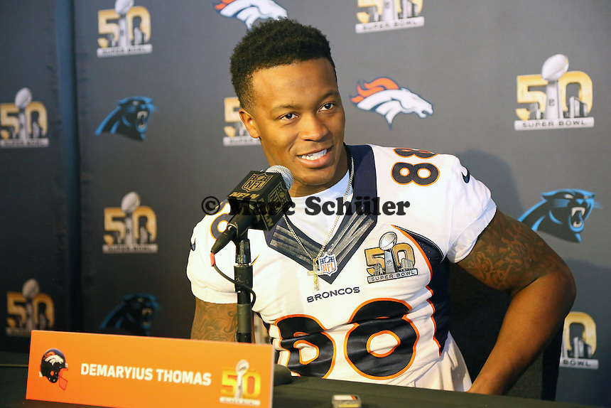 WR Demaryius Thomas (Broncos) - Super Bowl 50 Denver Broncos PK, Marriott Santa Clara