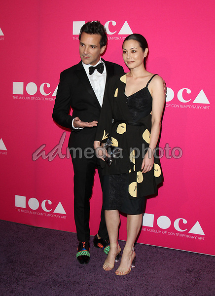 29 April 2017 - Los Angeles, California - George Kotsiopoulos and China Chow. 2017 MOCA Gala held at The Geffen Contemporary at MOCA. Photo Credit: AdMedia