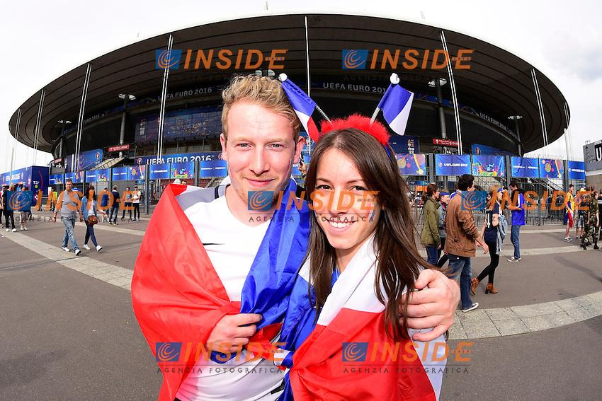 Tifosi Francia <br /> Paris 10-06-2016 Stade de France football Euro2016 France - Romania  / Francia - Romania Group Stage Group A. Foto Federico Pestellini / Panoramic / Insidefoto