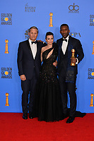 LOS ANGELES, CA. January 06, 2019: Viggo Mortensen, Linda Cardellini & Mahershala Ali at the 2019 Golden Globe Awards at the Beverly Hilton Hotel.<br /> Picture: Paul Smith/Featureflash
