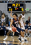 March 18, 2012:   Bucknell Bison guard Bryson Johnson drives against the Nevada Wolf Pack defense during their NIT second round game played at Lawlor Events Center on Sunday afternoon in Reno, Nevada.