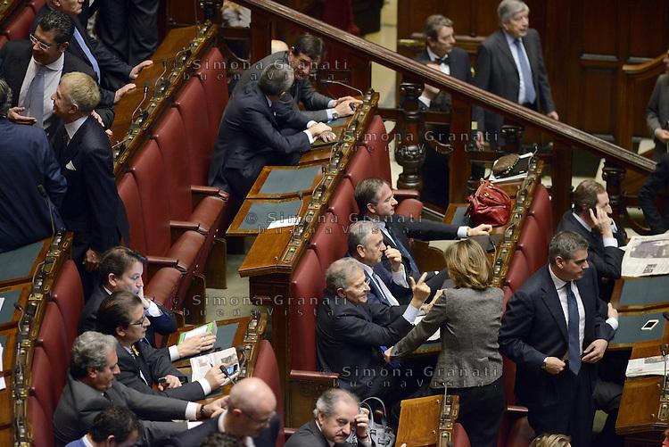 Roma, 18 Aprile 2013.Camera dei Deputati.Votazione del Presidente della Repubblica a camere riunite.Deputati e Senatori del PDL.Fabrizio Cicchitto