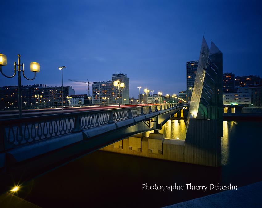 Issy les Moulineaux, 1999, Le Pont de Billancourt vers Boulogne