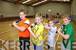 Having fun at the multi-sports summer camp in Moyvane sports hall on Friday were: Ryan Large, Conor Hogan, Christopher O'Donoghue and Ronan O'Neill.