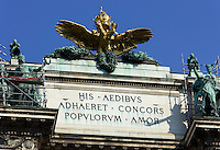 Neue Hofburg vom Burggarten, Wien, &Ouml;sterreich, UNESCO-Weltkulturerbe<br /> Neue Hofburg, Vienna, Austria, world heritage