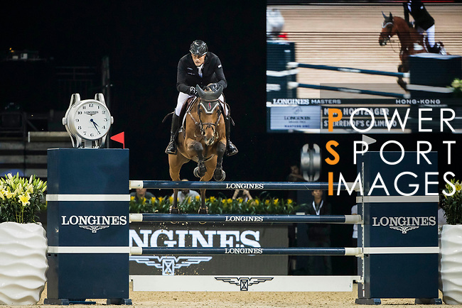 Marc Houtzager of The Netherlands riding Sterrehof's Calimero competes in the Longines Grand Prix during the Longines Masters of Hong Kong at AsiaWorld-Expo on 11 February 2018, in Hong Kong, Hong Kong. Photo by Ian Walton / Power Sport Images